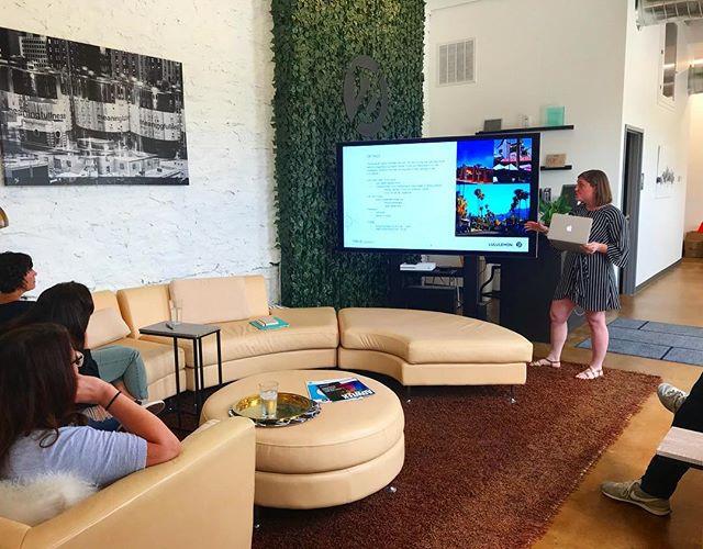 Intern Leah is presenting her summer project already! #deptzero #eventmarketing #eventprofs #summerinterns #hustleandflow
