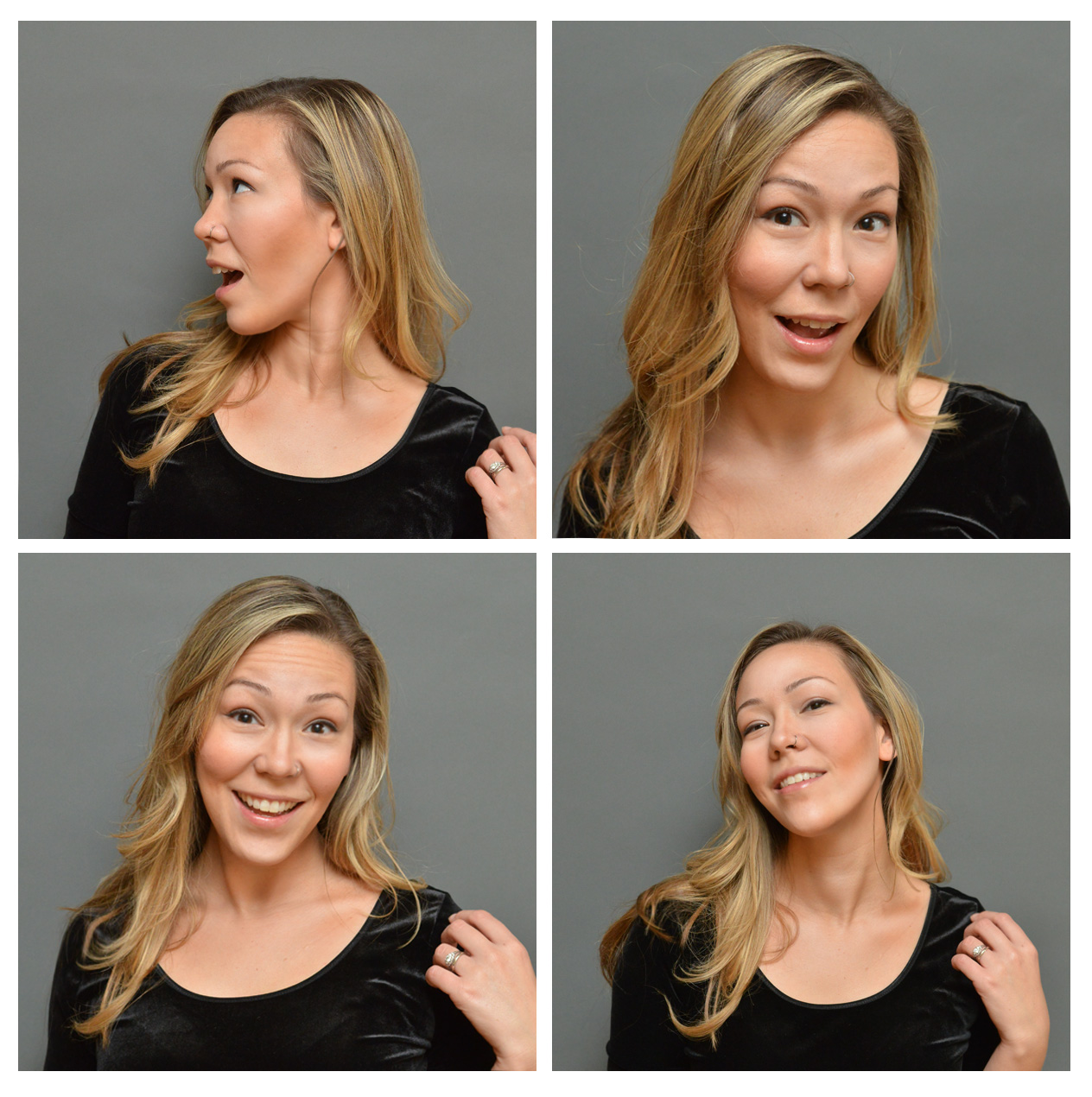Passport photo outtakes - only because they were too risque for the Federal Government