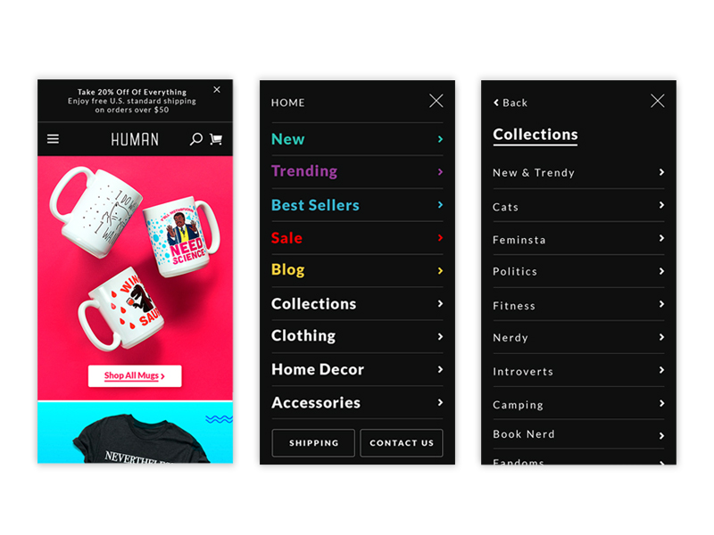 Look Human Mobile Header & Navigation Update.