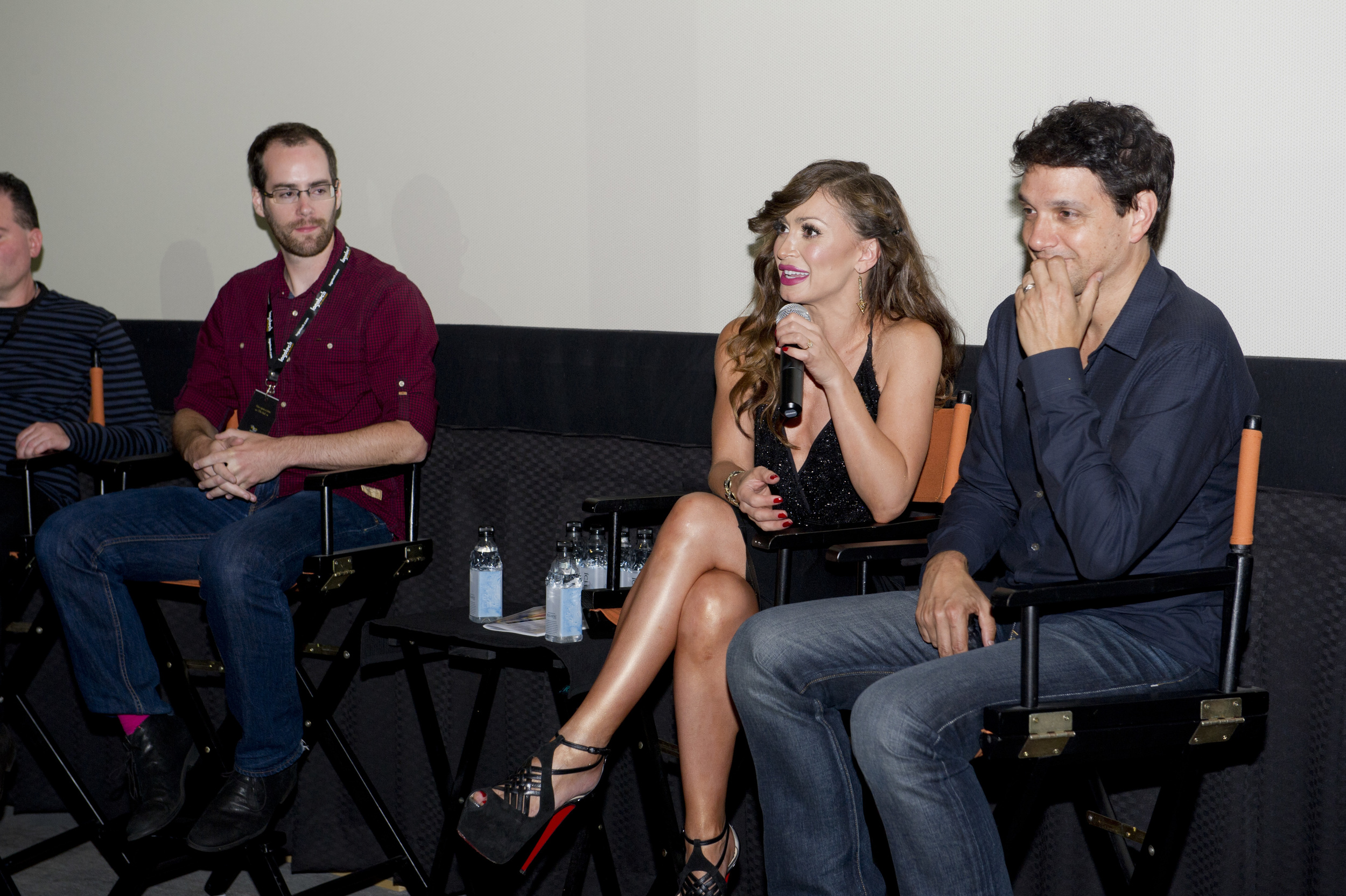 The Karate Kid  's Ralph Macchio & Dancing with the Stars's Karina Smirnoff talk about Mr. Macchio's short film Across Grace Alley