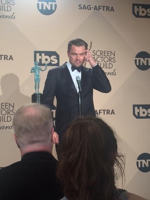 Leonardo at SAG awards.JPG