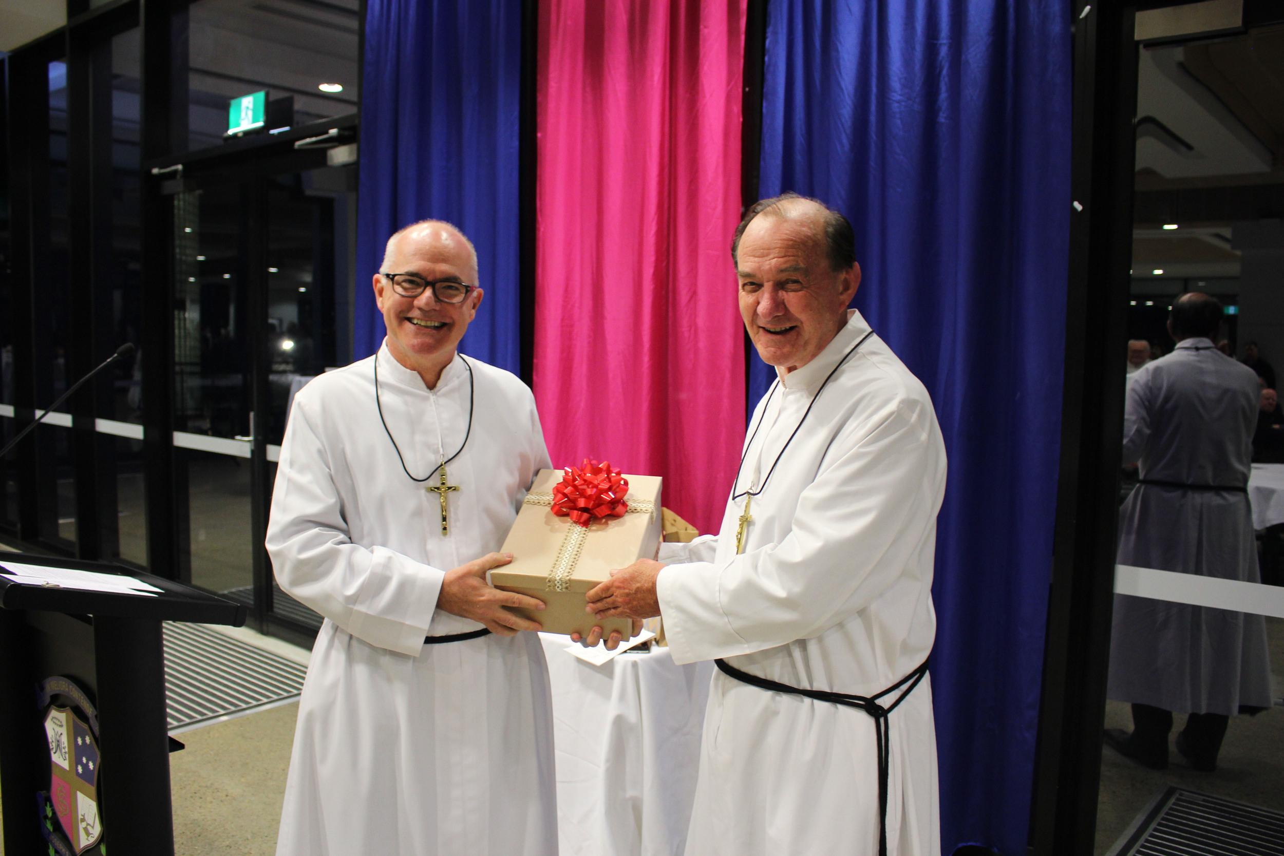 Peter Carroll & Jeff Crowe gifting.jpg