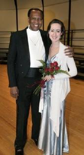 With Simon Estes in recital, Waukee, Iowa.