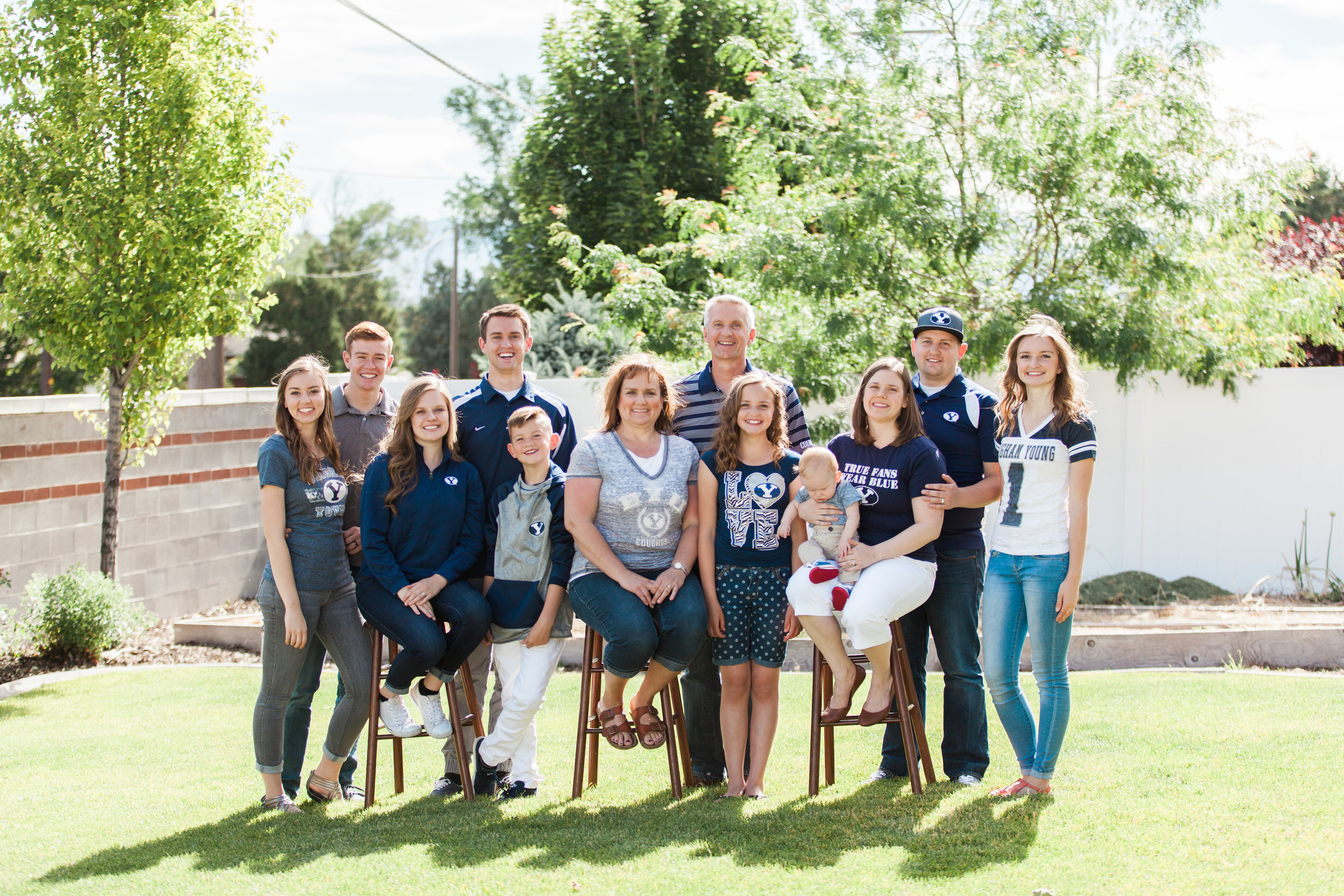 This adorable family LOVES BYU. So they all wore BYU gear and it was so perfect for them!
