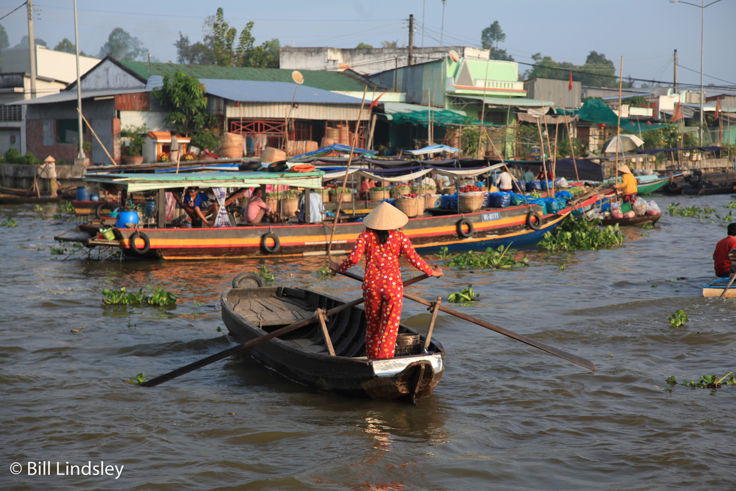 Long Xuyen Floating market, Vietnam