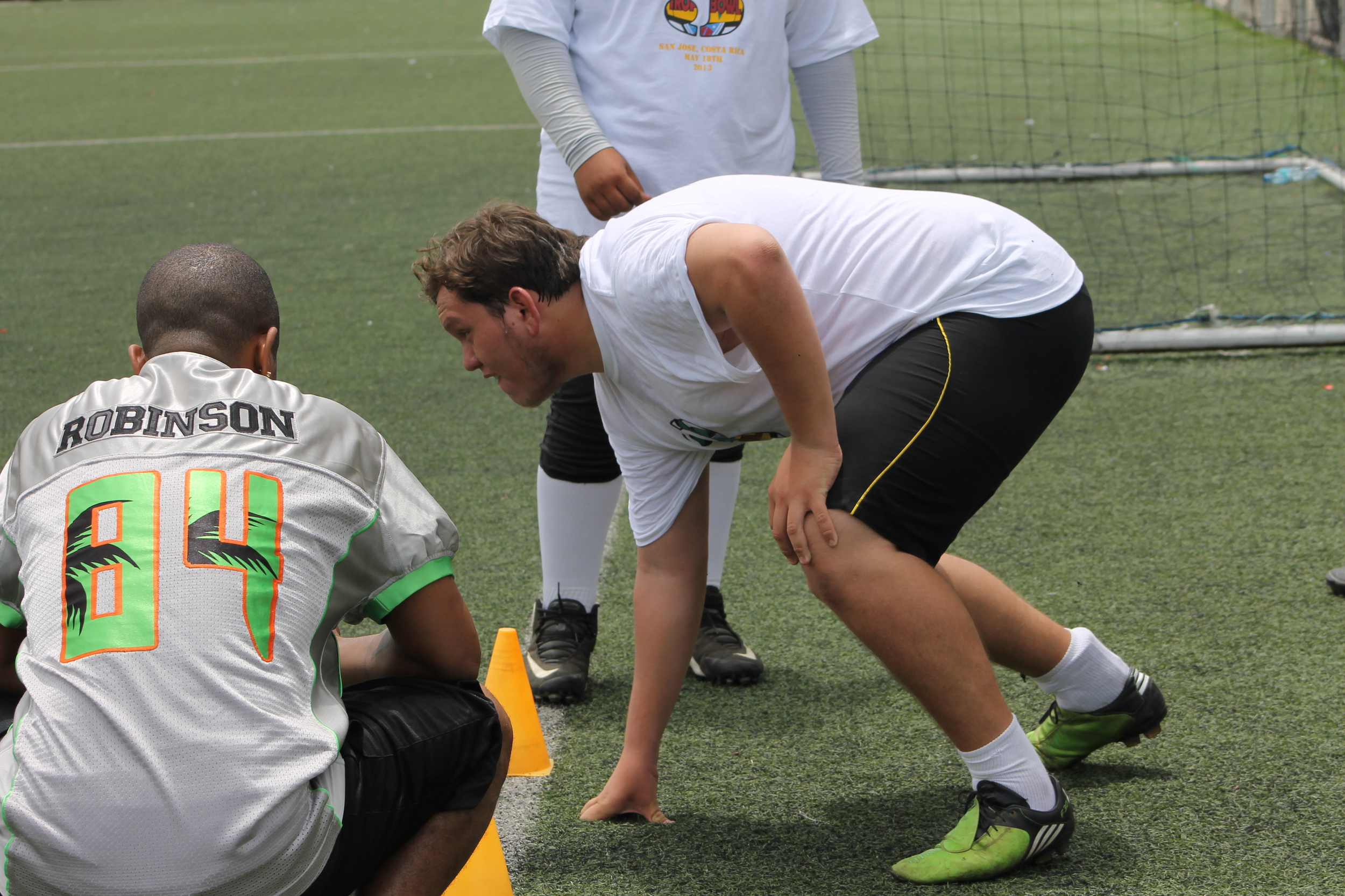 Coach Robinson Getting Up Close... Its All About The Stance