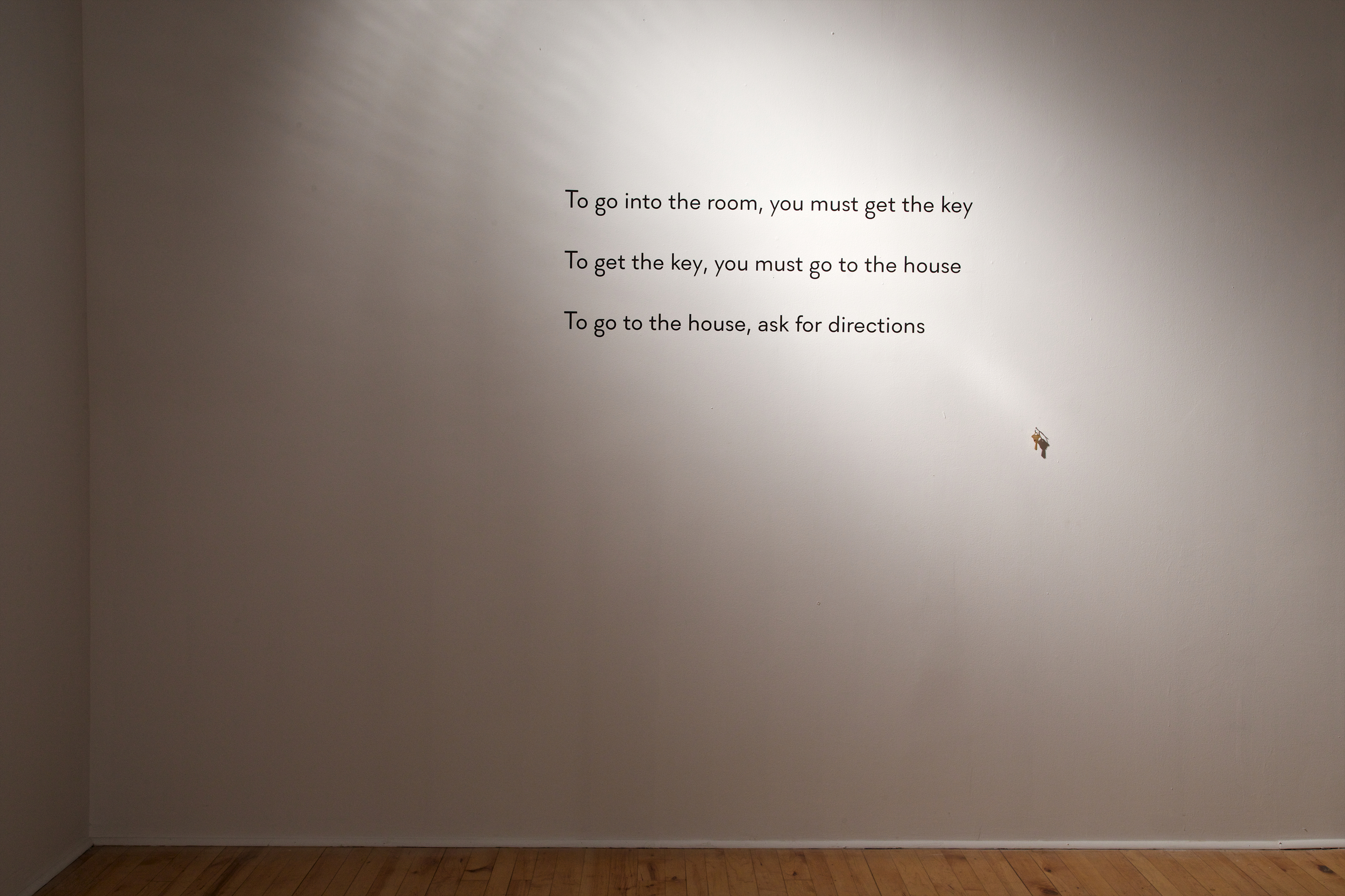 Installation view.  Wall text.