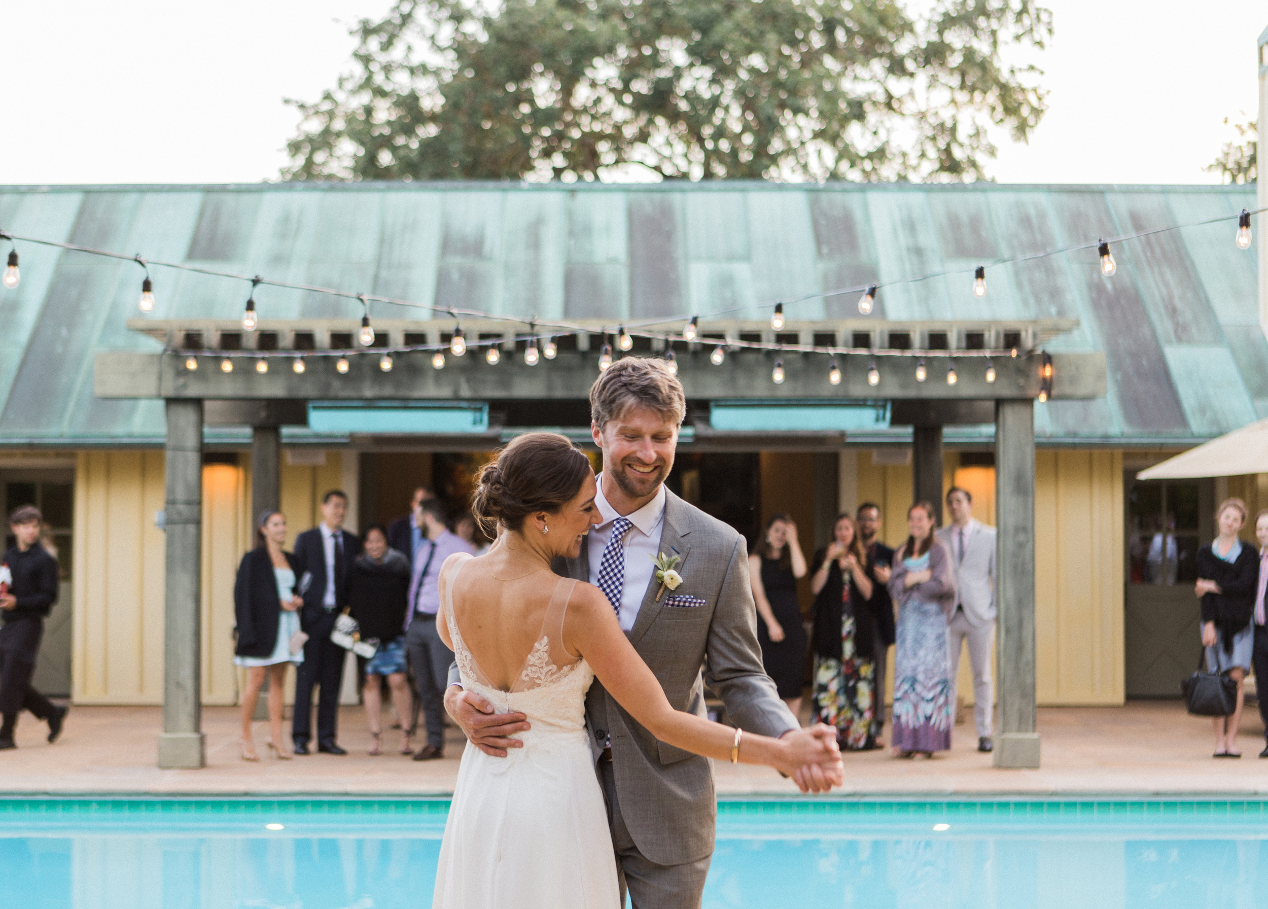 With all the other wedding plans, our first dance was a bit of an after-thought. We made the most of it though, laughed a lot, and were thankful we chose a short and sweet song,  Lovin' In My Baby's Eyes  by Taj Mahal.