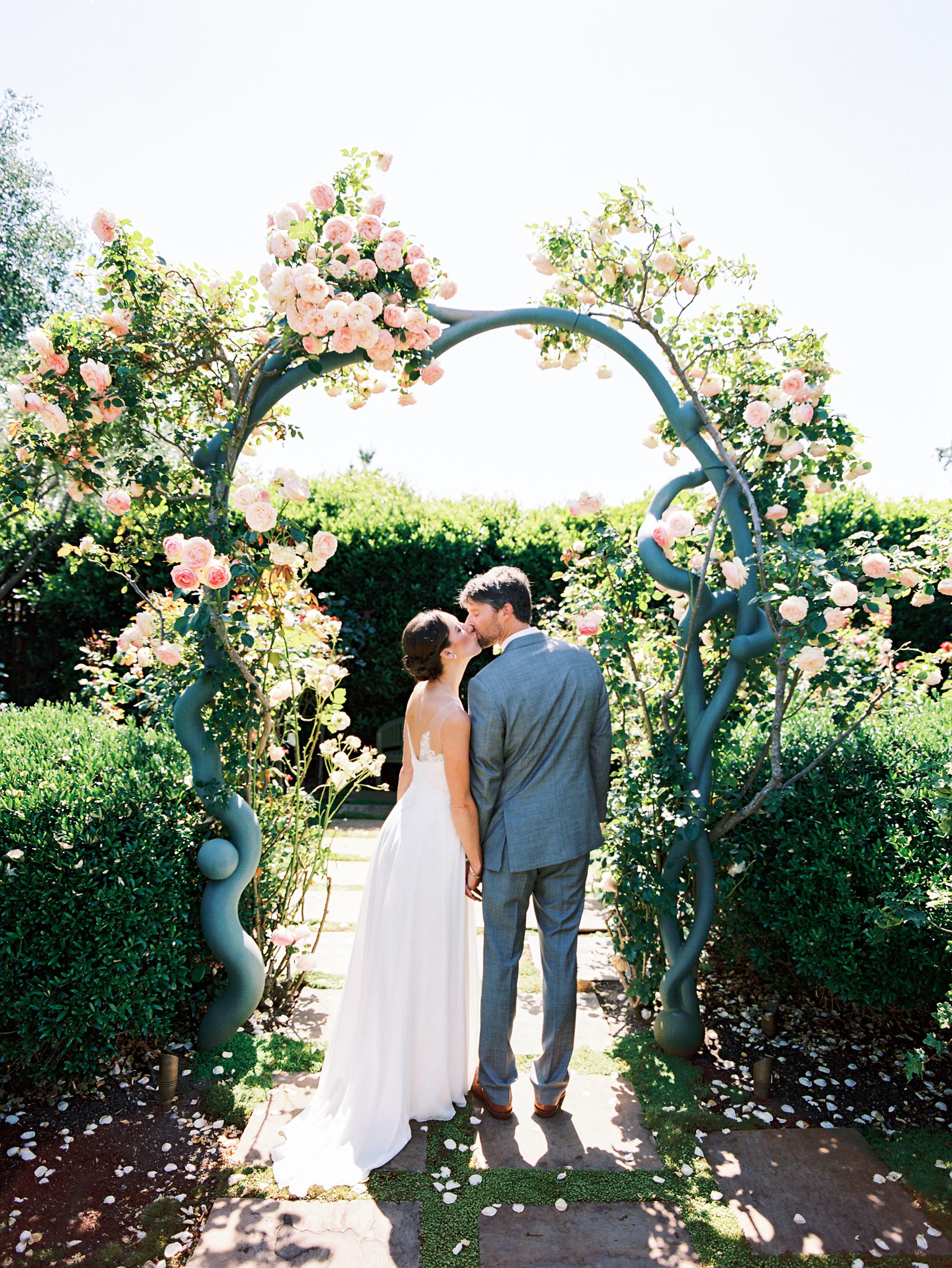 A magical entrance to the rose garden.