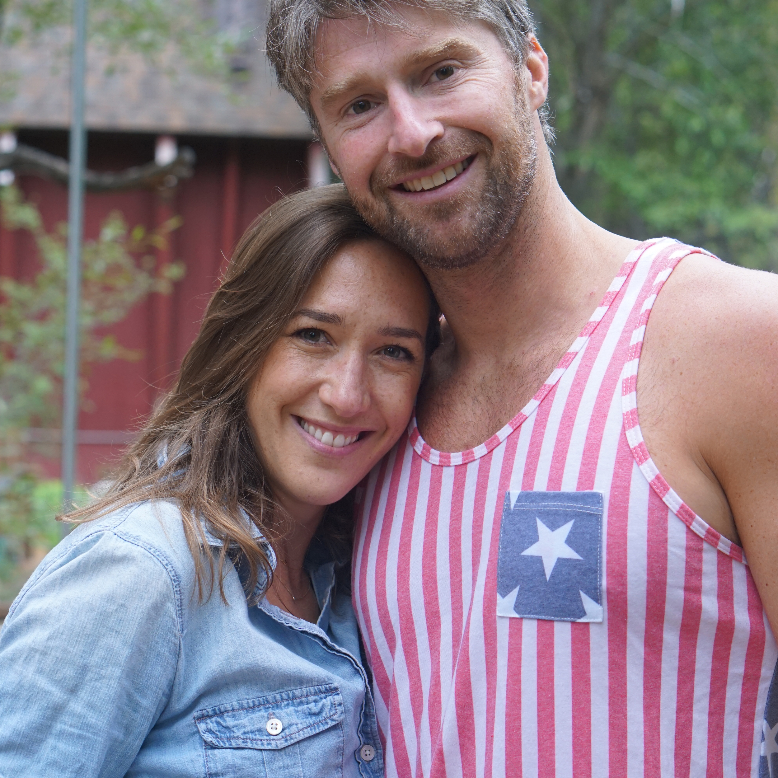 Festive attire for our Fourth of July celebration