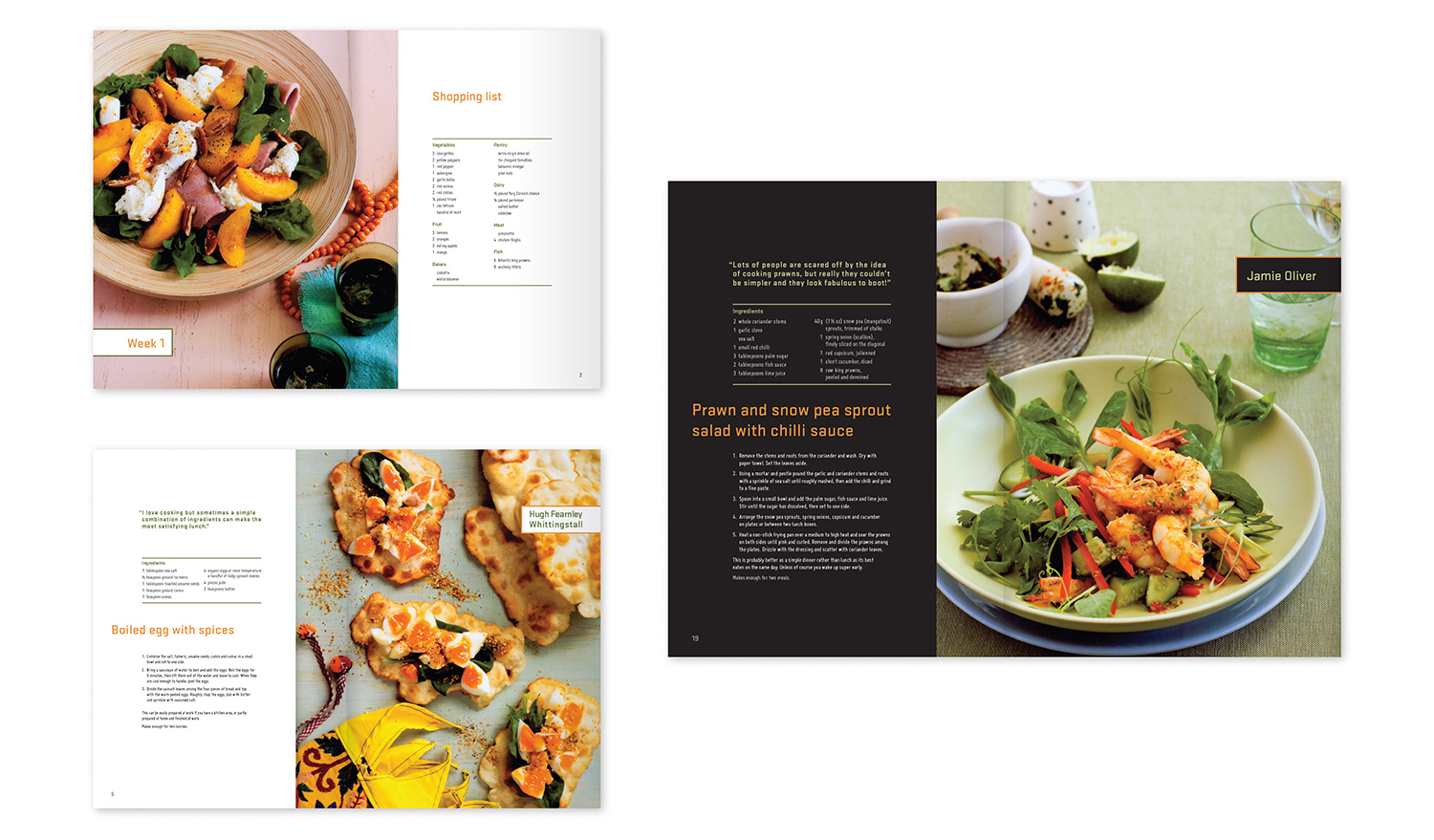 No Time To Cookbook  - The cookbook is aimed at young professionals who love food but don't have much time to prepare their meals. It required a contemporary feel, without being too feminine or conservative. The cookbook is clear and easy to use with bold use of photography.  (Student work)