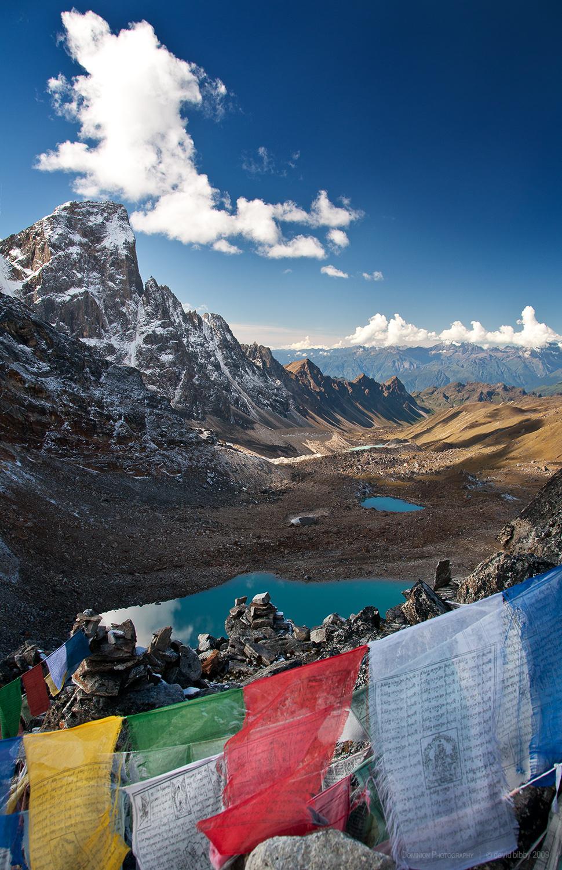 Gangla Karchung (6395m) from Karchung La (5120m). Snowman Trek.