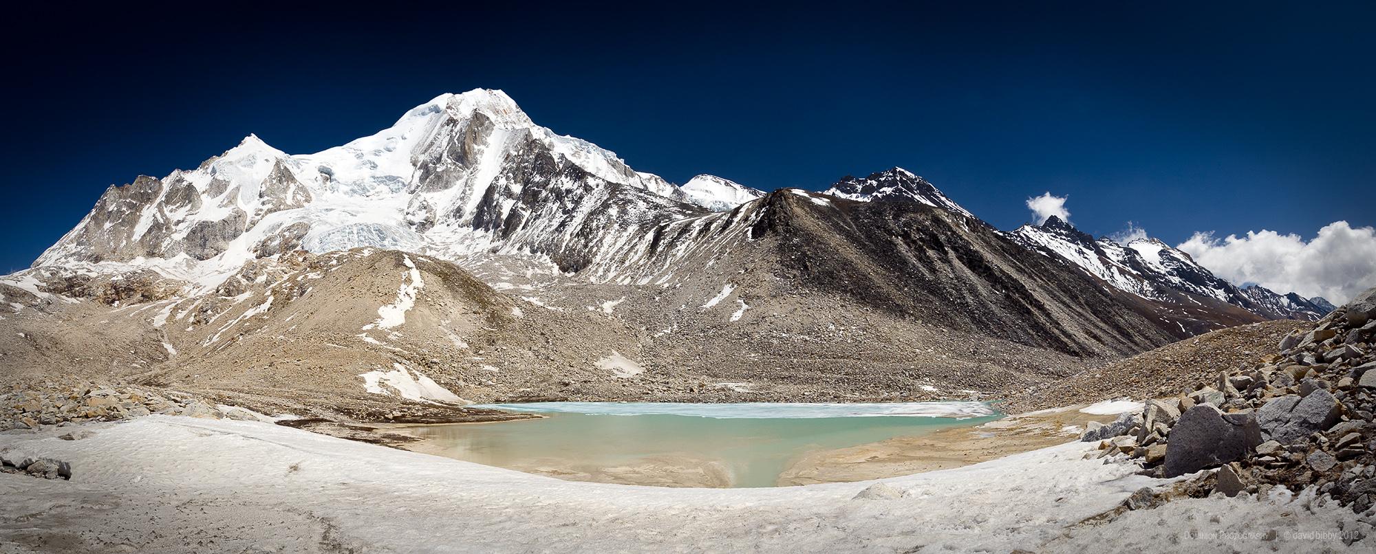 The Pawar Himal (6621m) from just below the Larkya La (5160m). Manaslu Conservation Area.