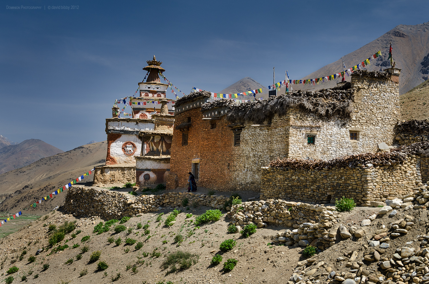 Gompa and nunnery at Dho Tarap. Dolpa district.