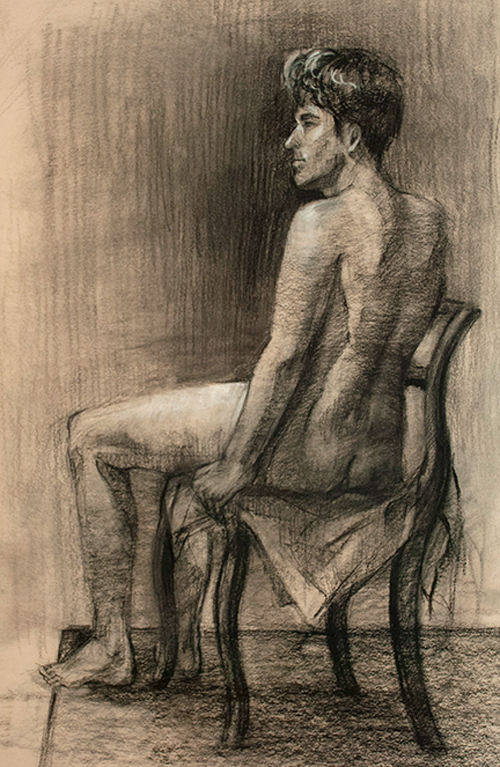 Unknown model. 3hr. Charcoal, 14x22