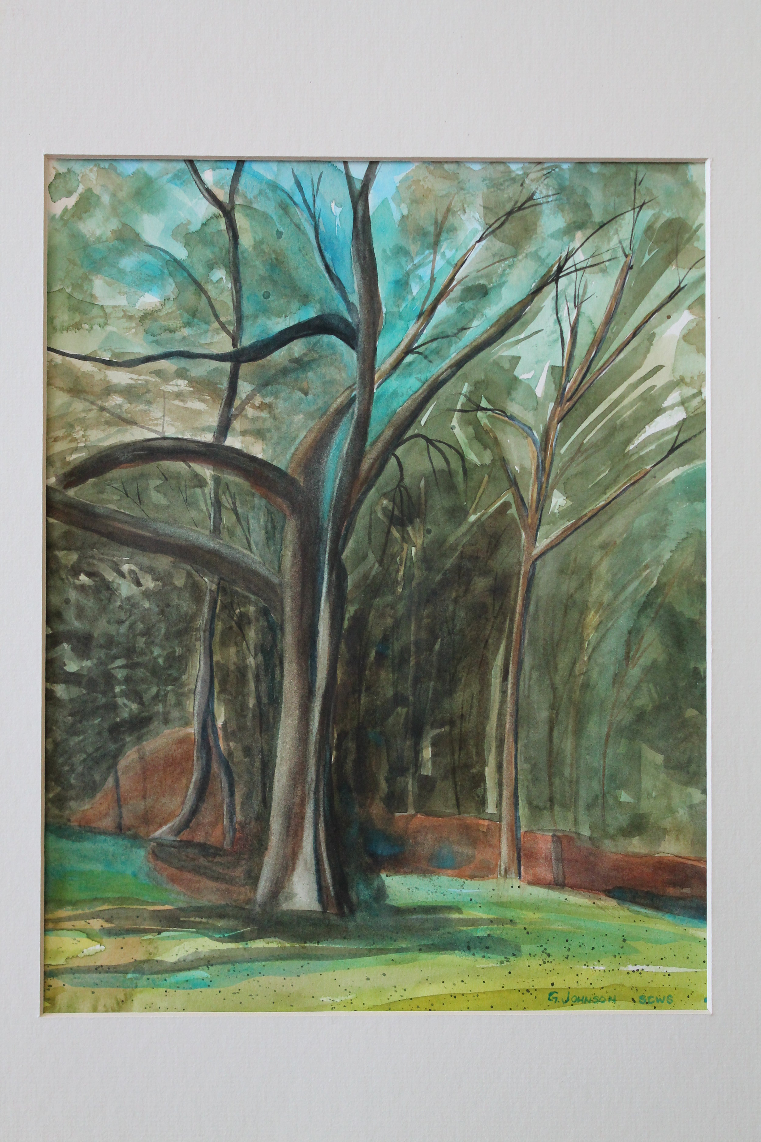 The Grove. Watercolor. Original Sold. Reproductions available.