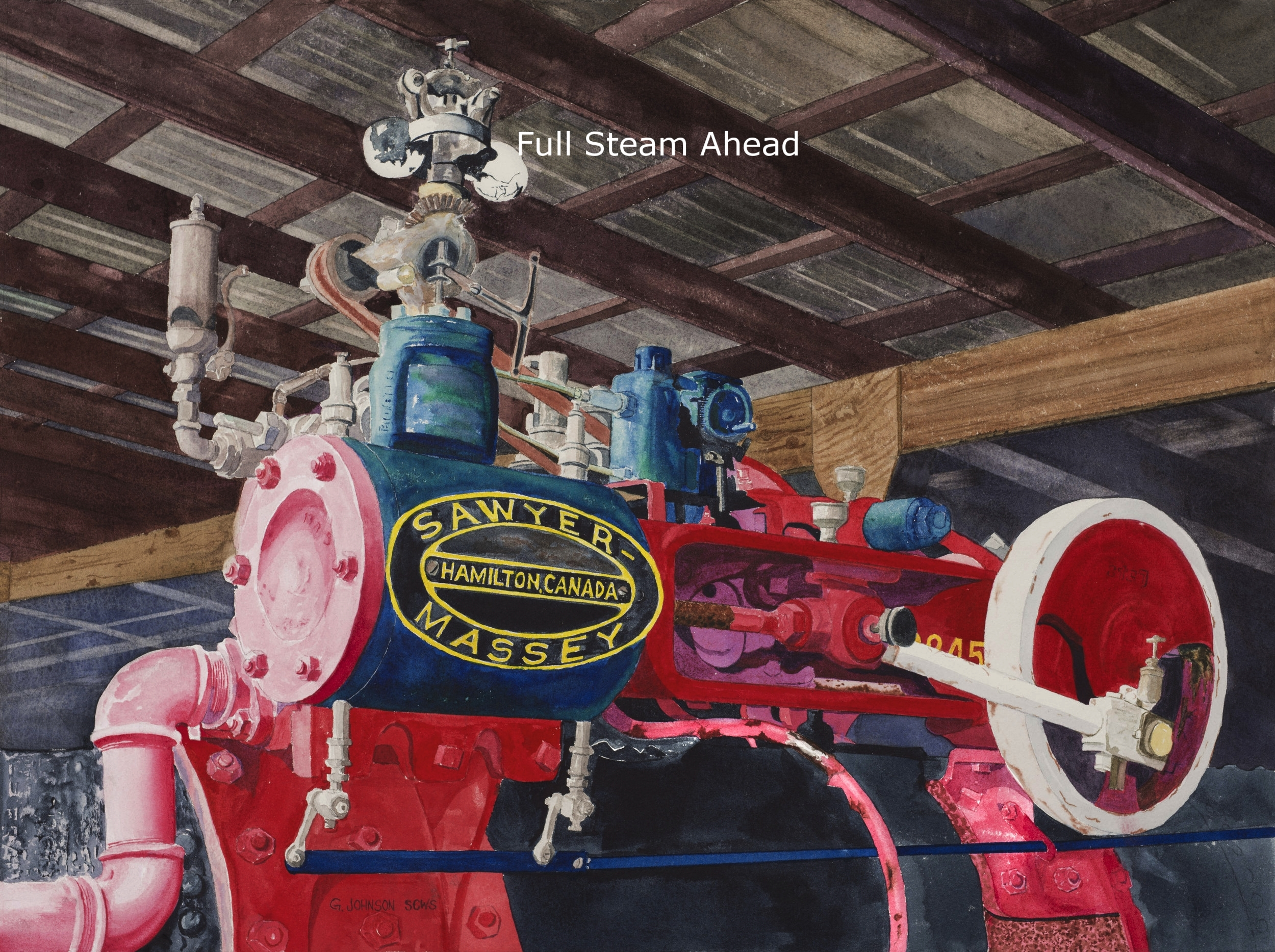Full Steam ahead.  Reproductions available
