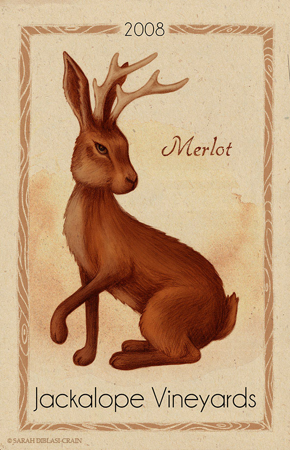 Jackalope Vineyards Label