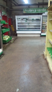 The vegetable and fruit section is almost emptied out. No supply trucks have been coming through...