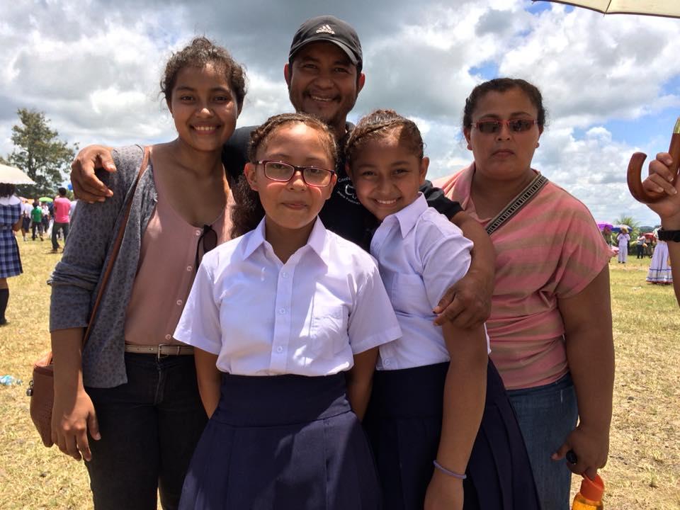 Karla Arteaga is seen on the far left. Judith Arteaga in front she just had her hip surgery.