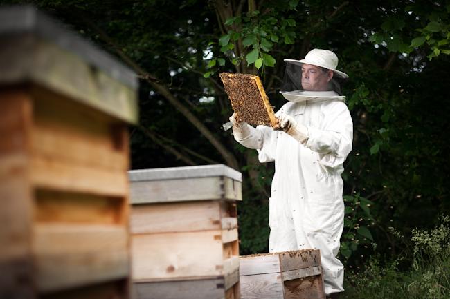 I Am Series Beekeeper Editorial Location Photography Richard Pardon Hertfordshire