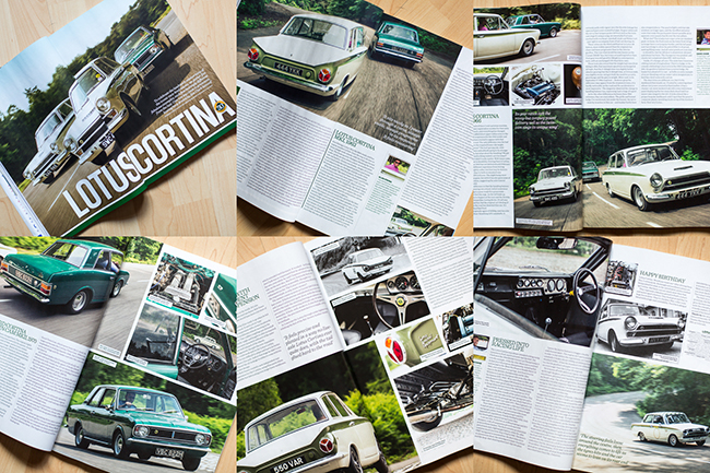 Classic CARS September 2013 Magazine Lotus Cortina Cover Feature Richard Pardon Photographer