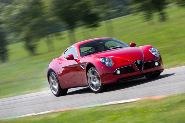 Alfa Romeo 8C Supercar Sideways Drift CAR Magazine Editorial