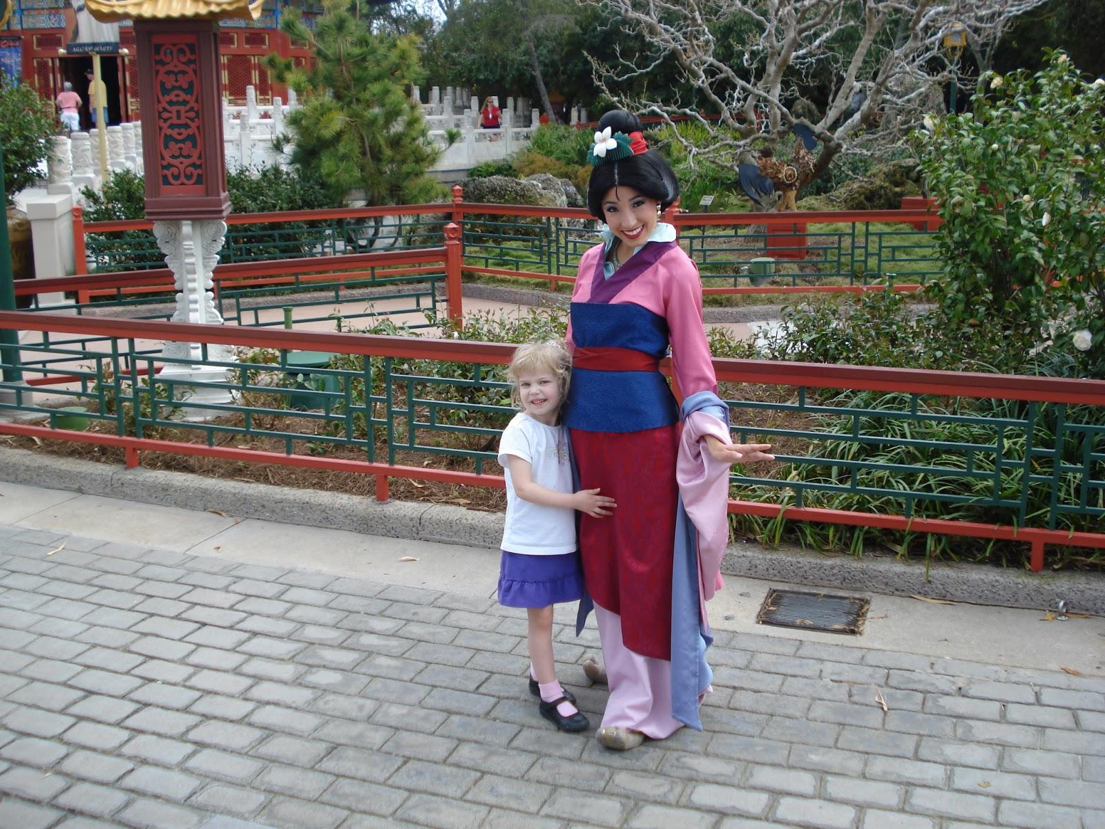 Mulan at the China pavilion in Epcot