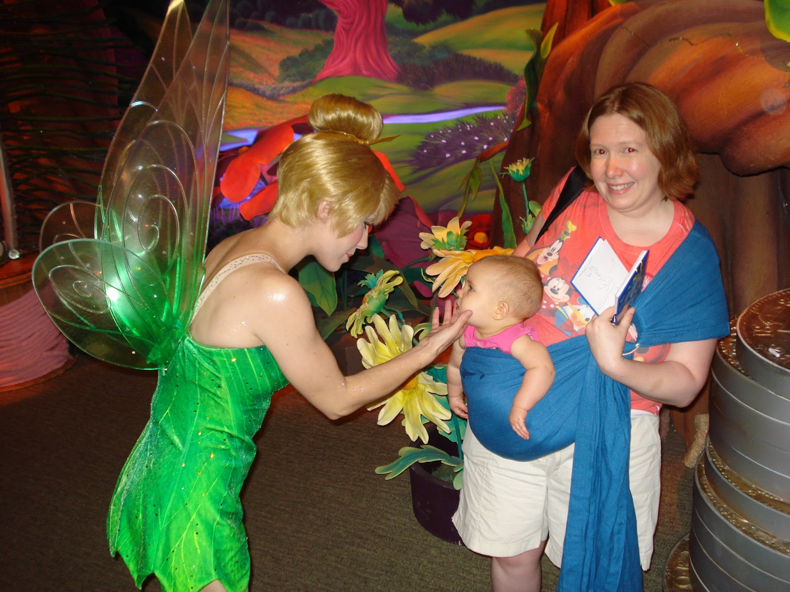 Meeting Tinkerbell at the Magic Kingdom