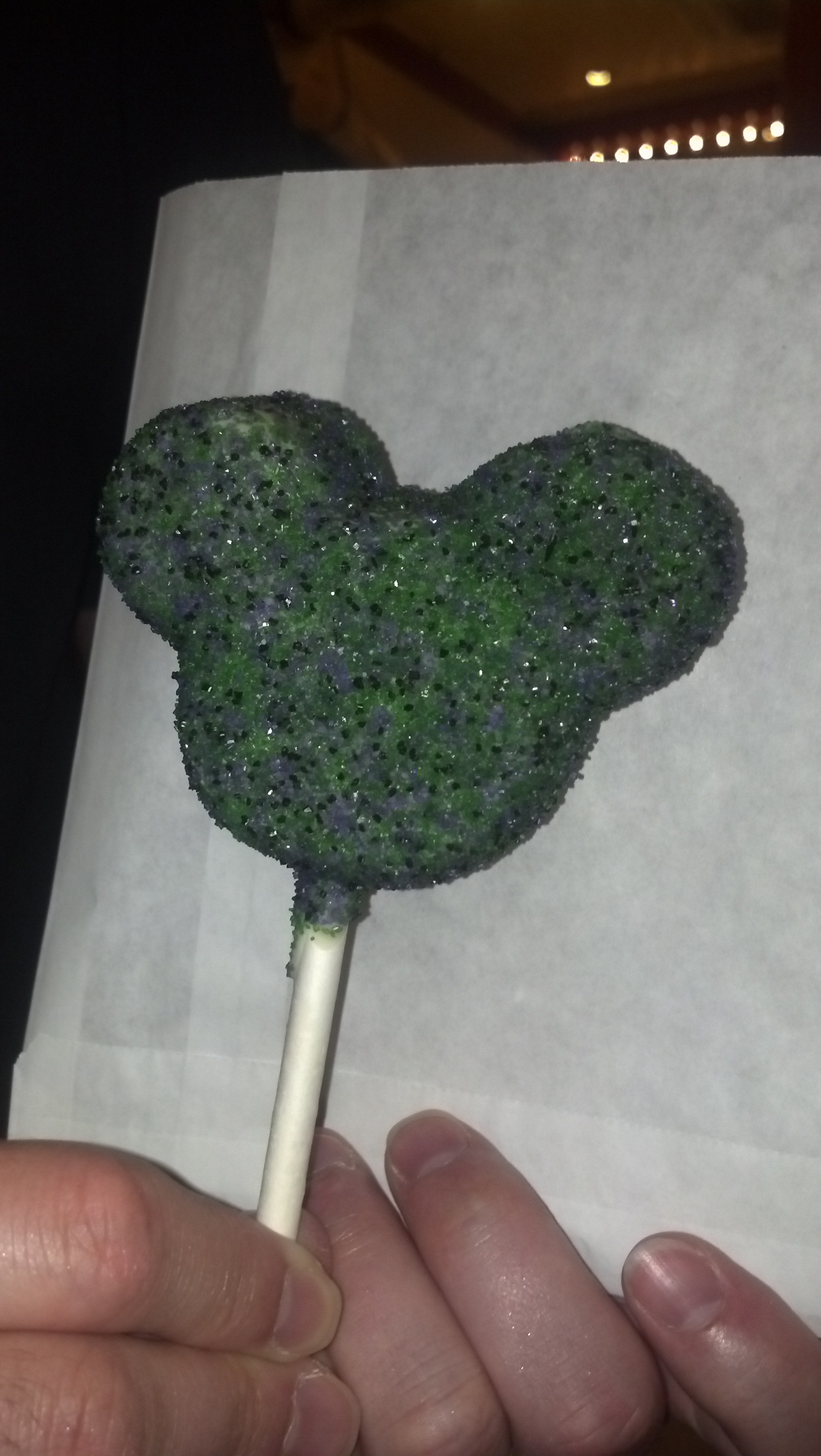 Green, Black, and Purple Maleficient Cake Pops