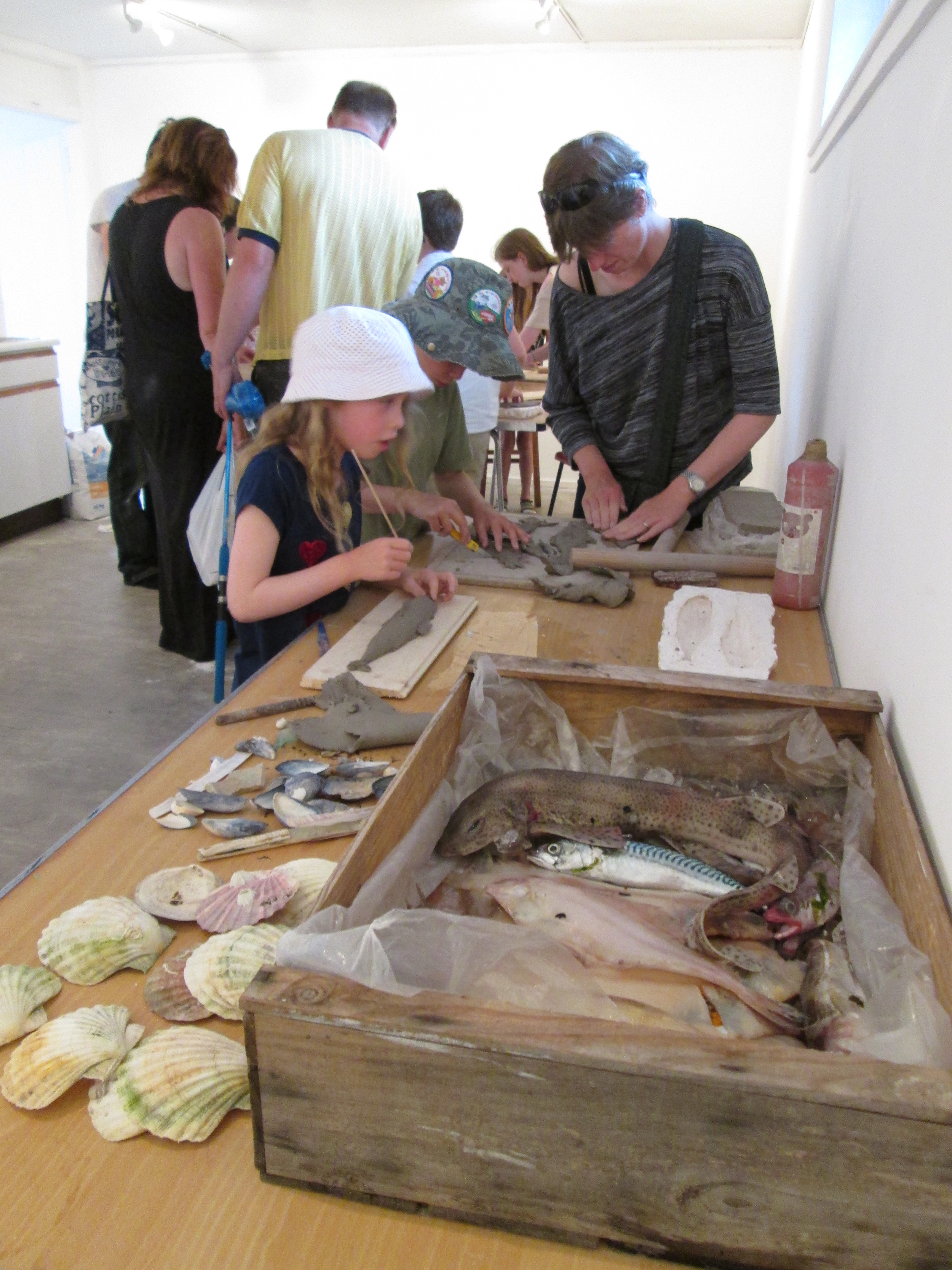 Fishy fun at the Earth, Fins & Fire workshops!