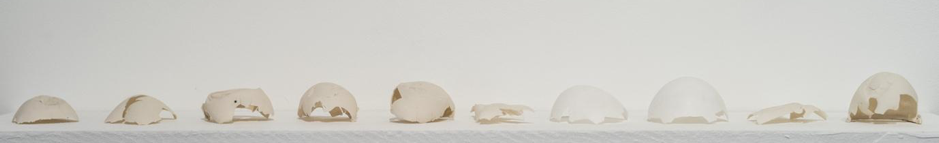 Figure 4.  Rebecca Brown , 'Fleet' [porcelain - variable dimensions]. Photograph by Peter Haring