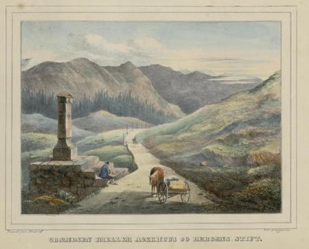 Figure 7. Historic print by P. F. Wergmann (1802-1869) showing the Kongevegen
