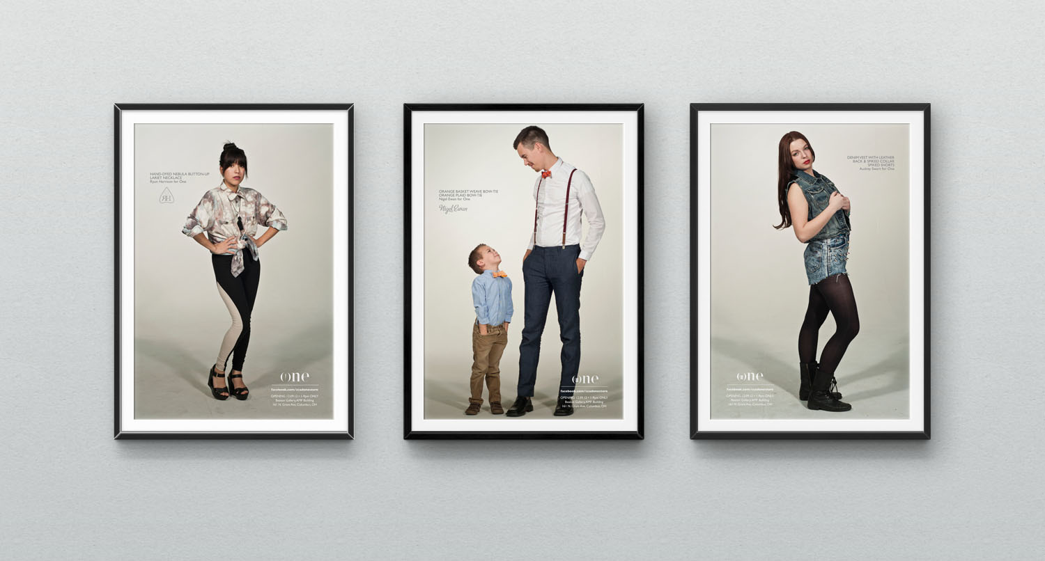 Poster ad series featuring the top three collections.  Top designers left to right,  Ryun Harrison ,  Nigel Ewan ,  Audrey Swart