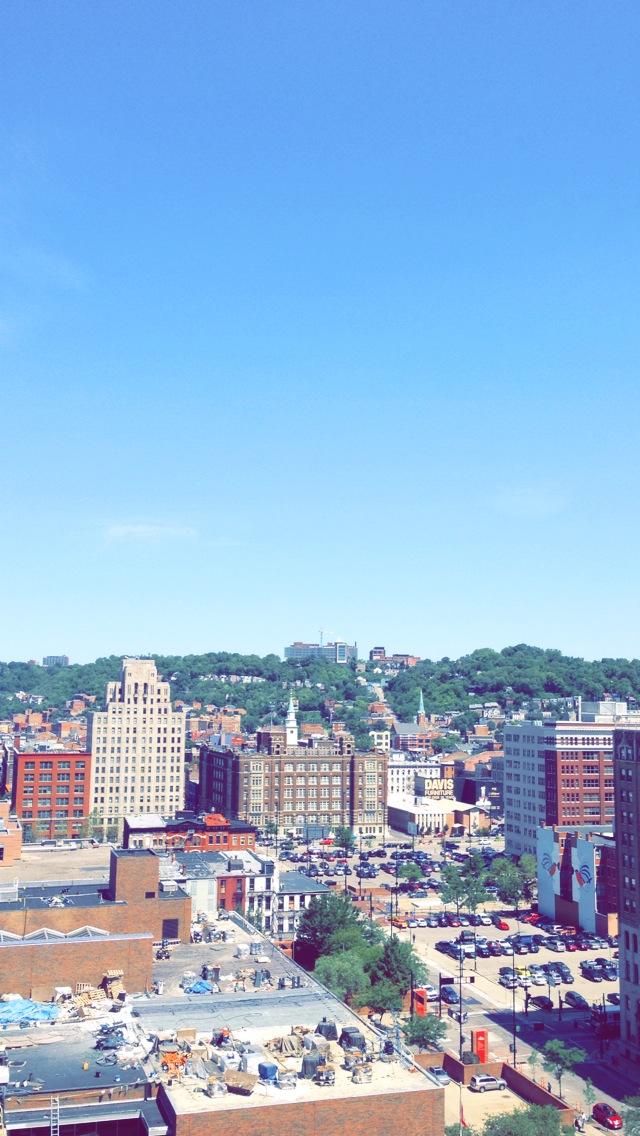 Exploring the new city of Cincinnati.