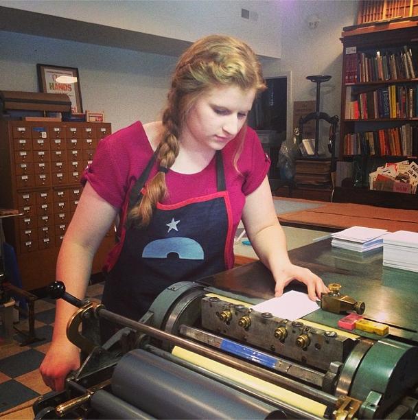 #2  SNAIL MAIL LOVE Spent 6 months interning at a  letterpress  shop!