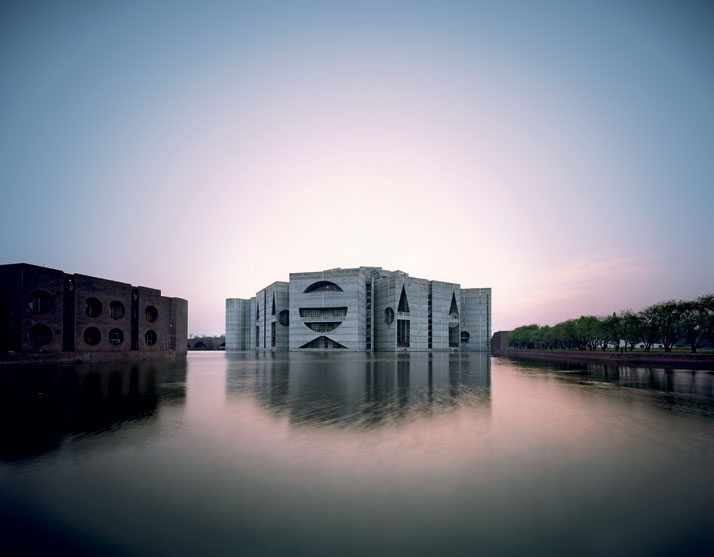 National Assembly Building in Dhaka, Bangladesh, Louis Kahn.  Image by  Raimond Meier , taken from  Yatzer