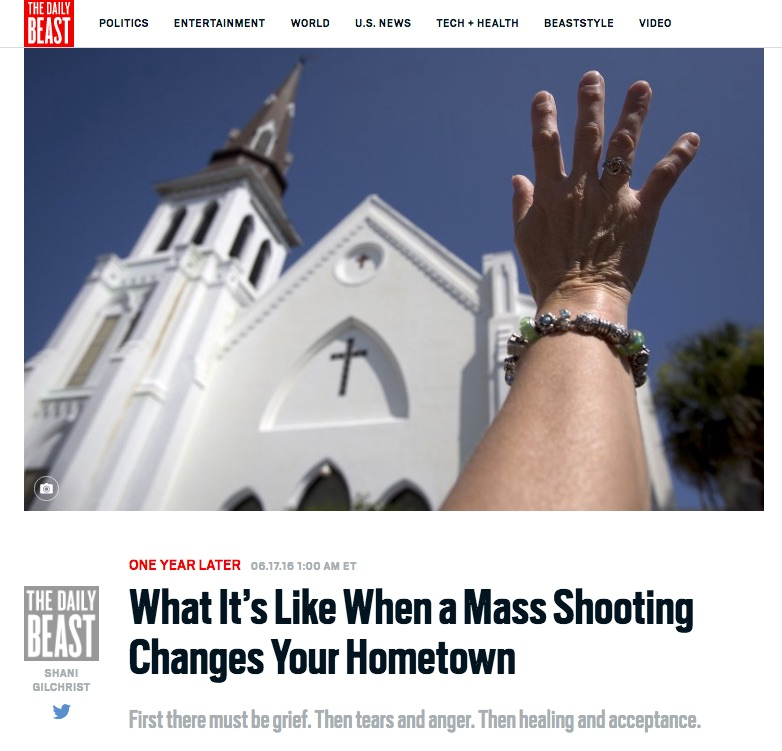 "Daily Beast - ""What It's Like When A Mass Shooting Changes Your Hometown"" June 17, 2016"
