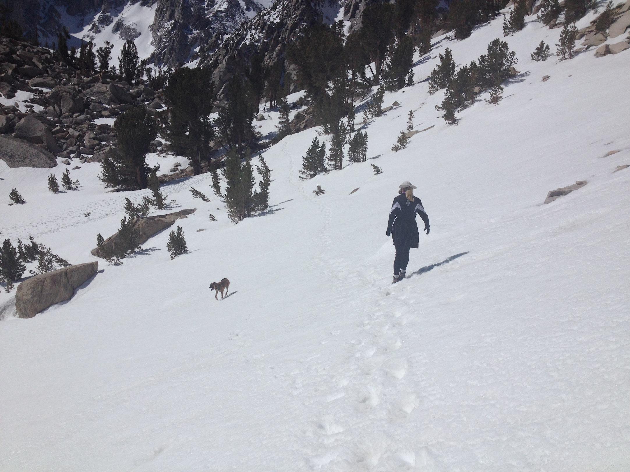 Snow near Heart Lake on way to Kearsarge Pass, May 13, 2014