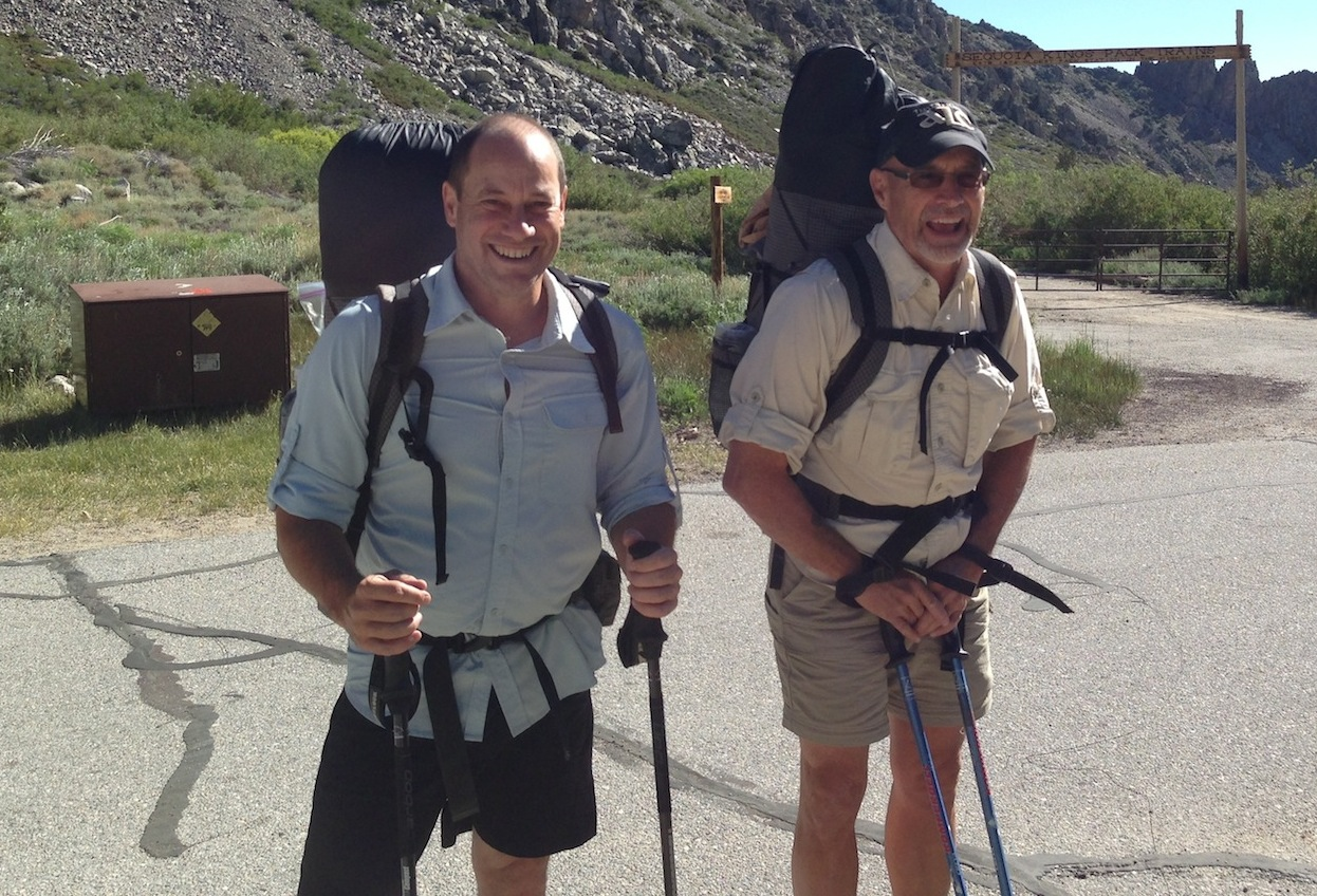PCT section hikers Alberta Eric and Bill at Onion Valley