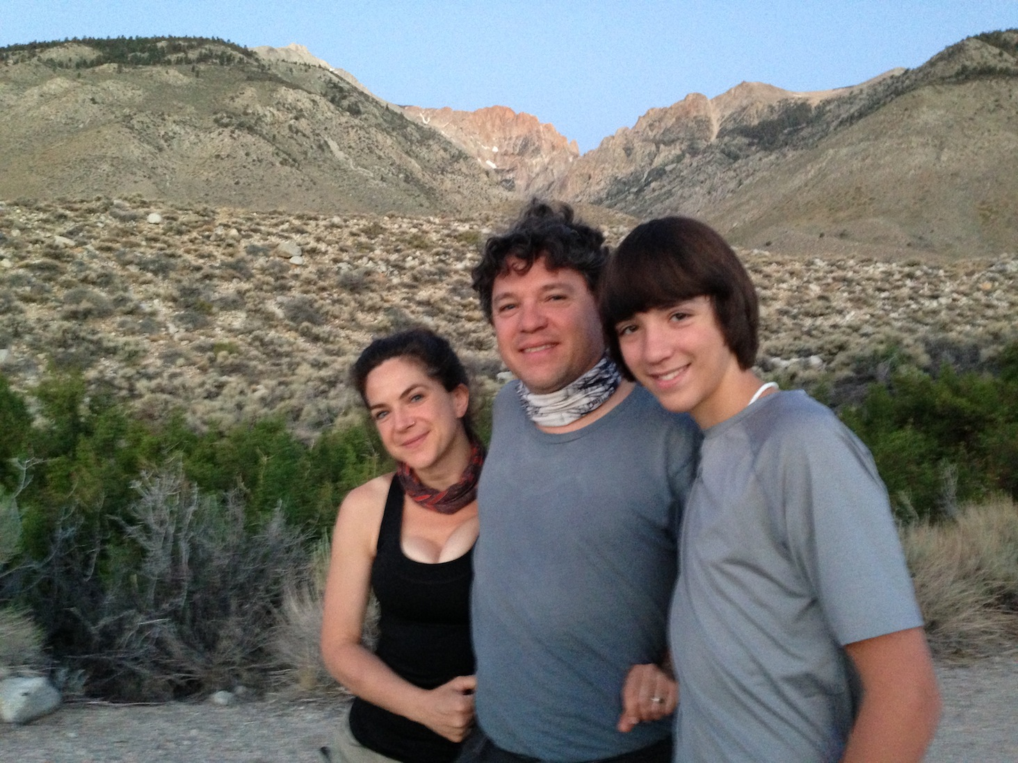 JMT: Nicky, Jeff and Aiden preparing to head up Taboose on June 27