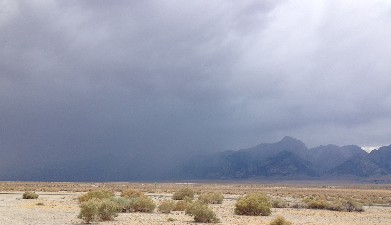 Afternoon rain on July 8 just south of Mt. Williamson
