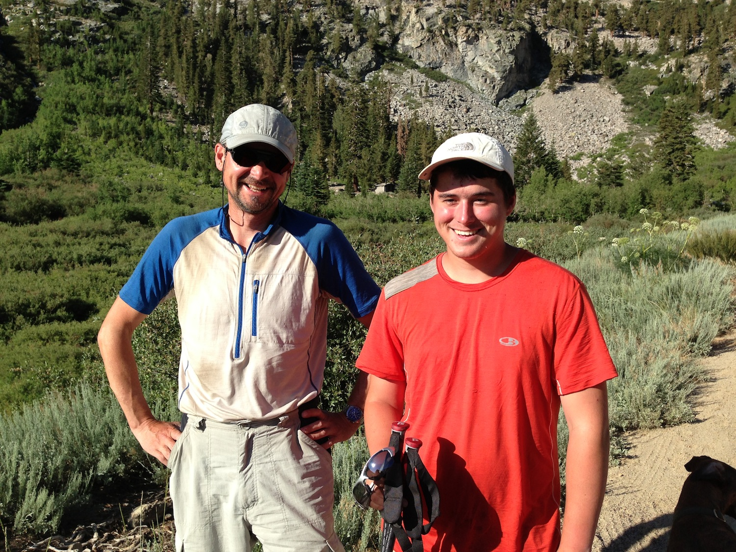 JMT demons Peter and Damian from Wisconsin. The father-son duo have done the JMT 20 times between them.