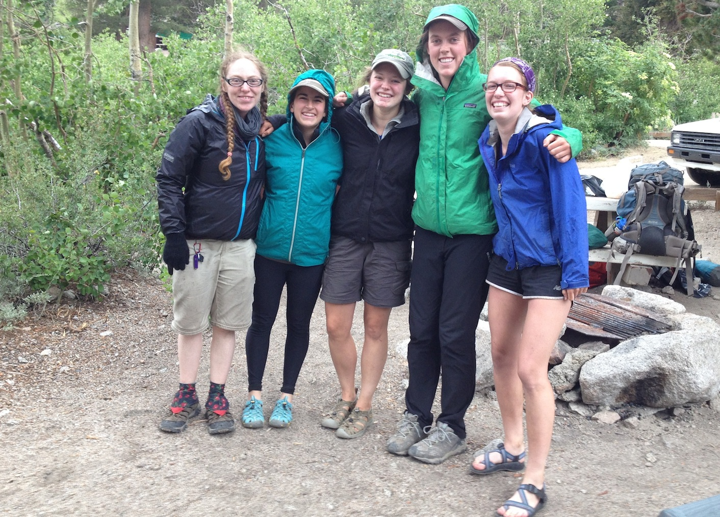 Ruby has a joyful if rainy reunion with the Hamilton College gang at the Onion Valley campground.