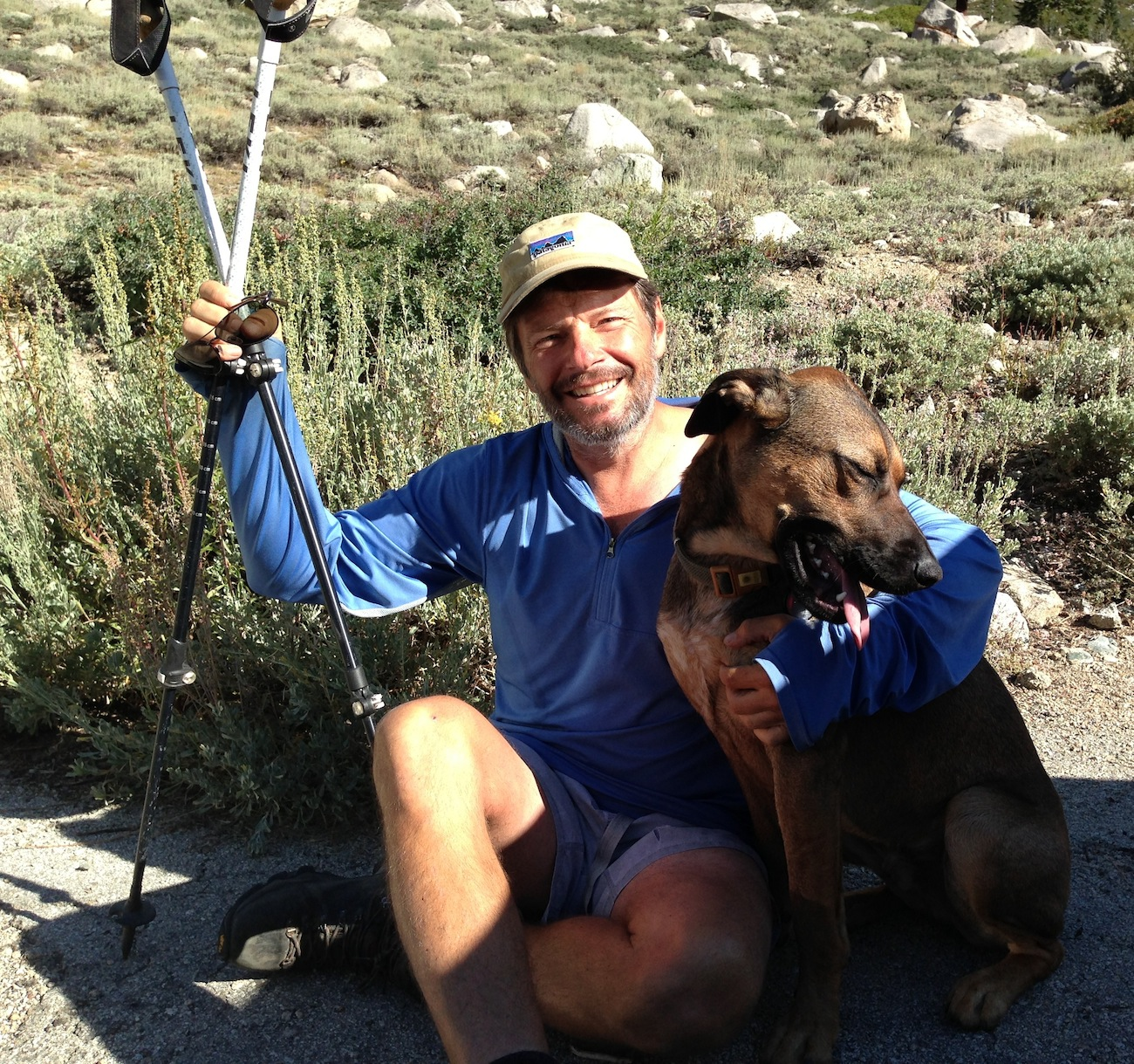 Indy wants to go to Kearsarge Pass with JMT hiker Kreg