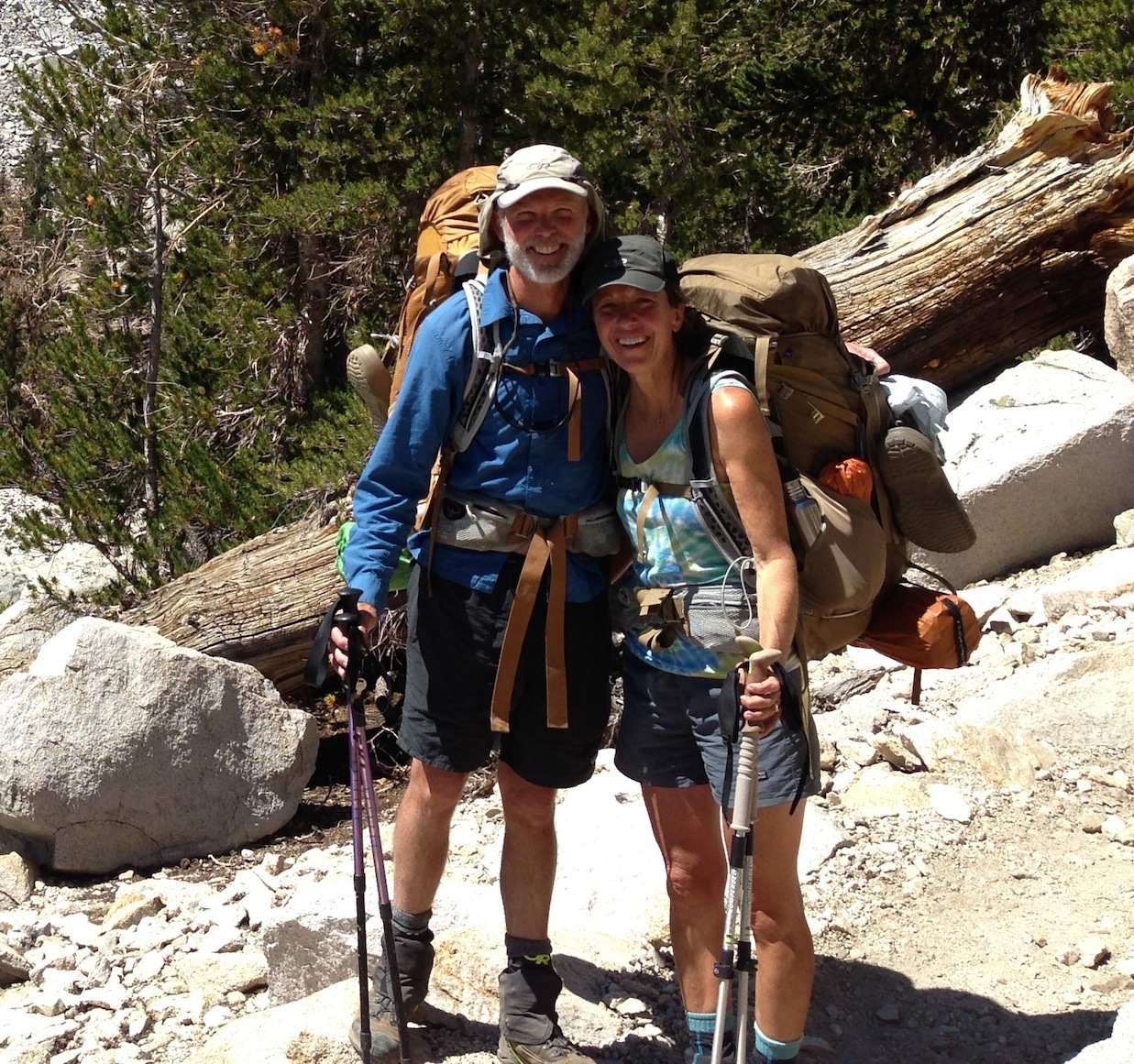 Oregon JMT hikers Craig and Noni are loving the trail after a few days at the Base Camp
