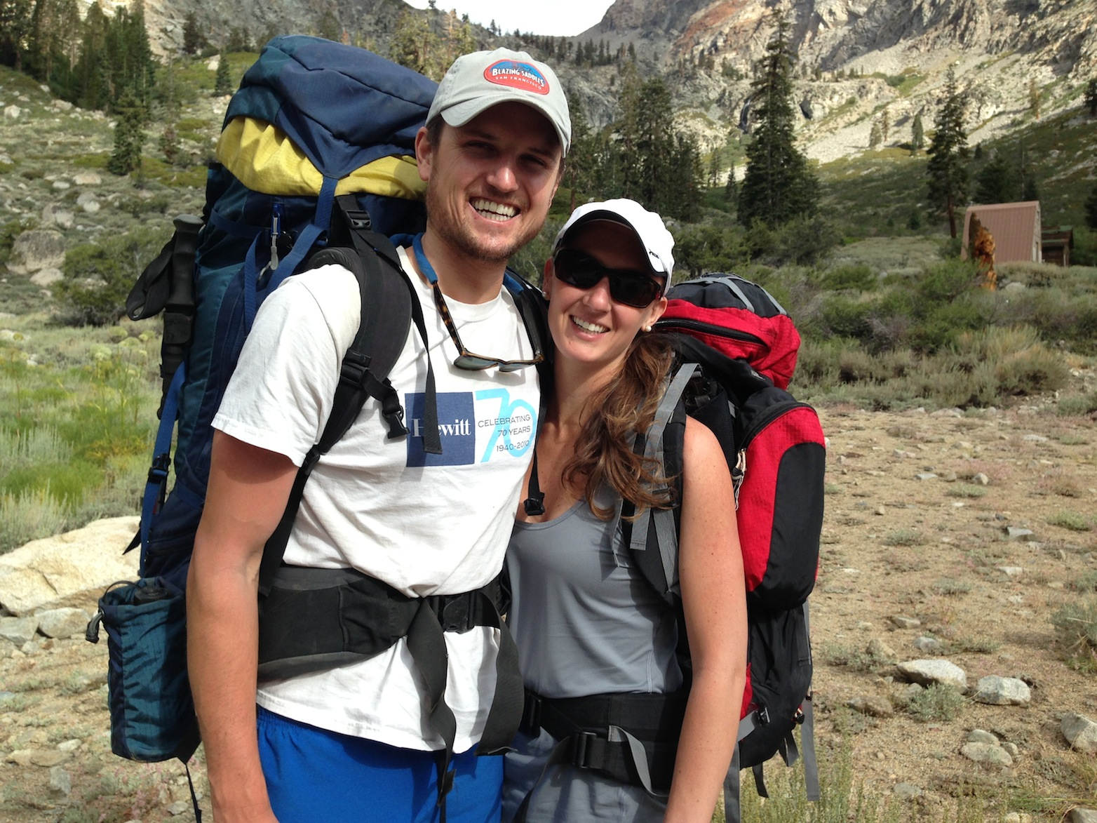 Zach and Cassie on their way up to Kearsarge Pass