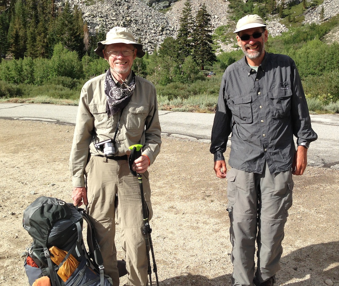JMT hiking buddies Joe and Doug are ready to finish on top of Whitney.