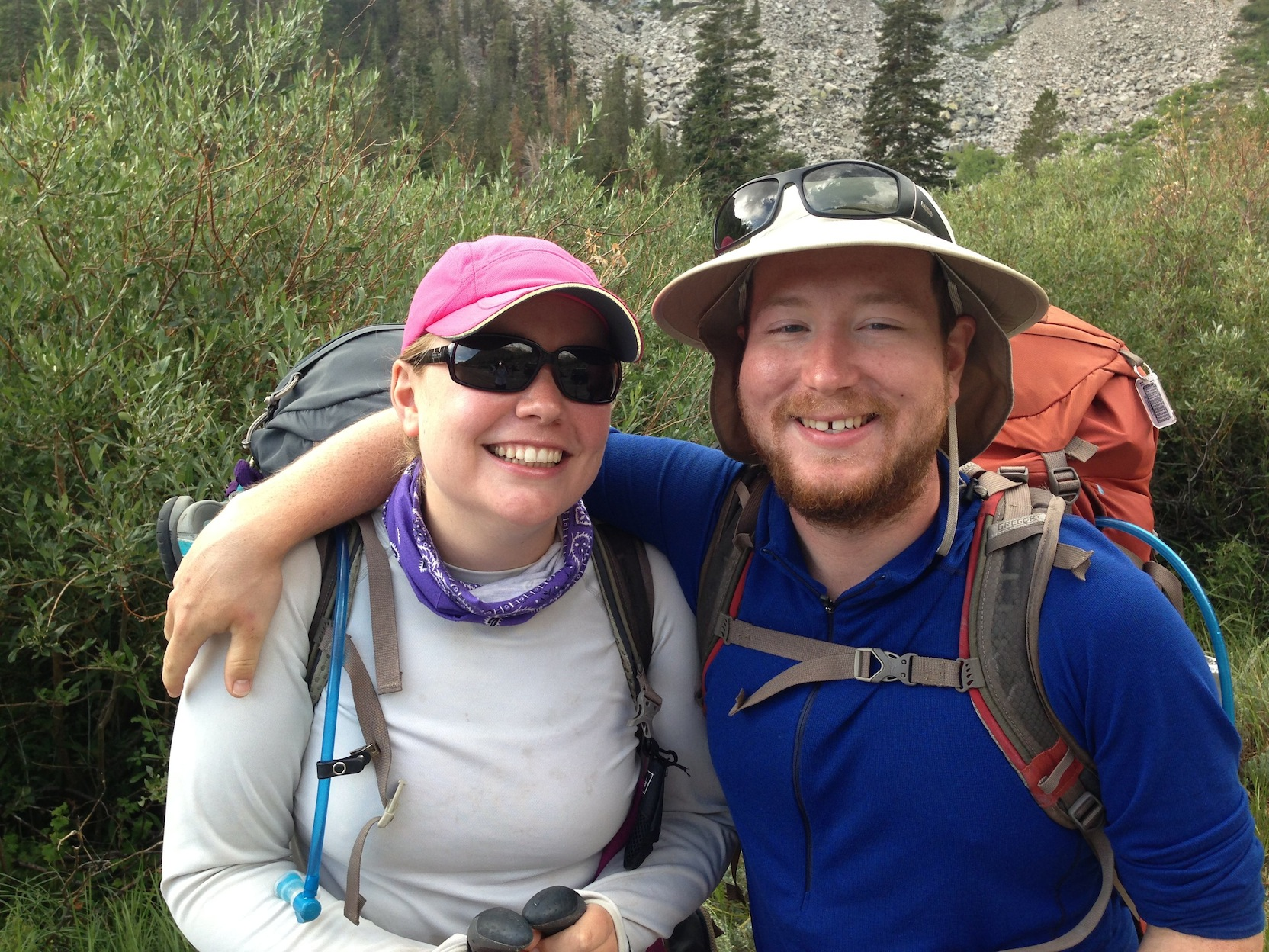 JMY hikers Laura and Andy at Onion Valley