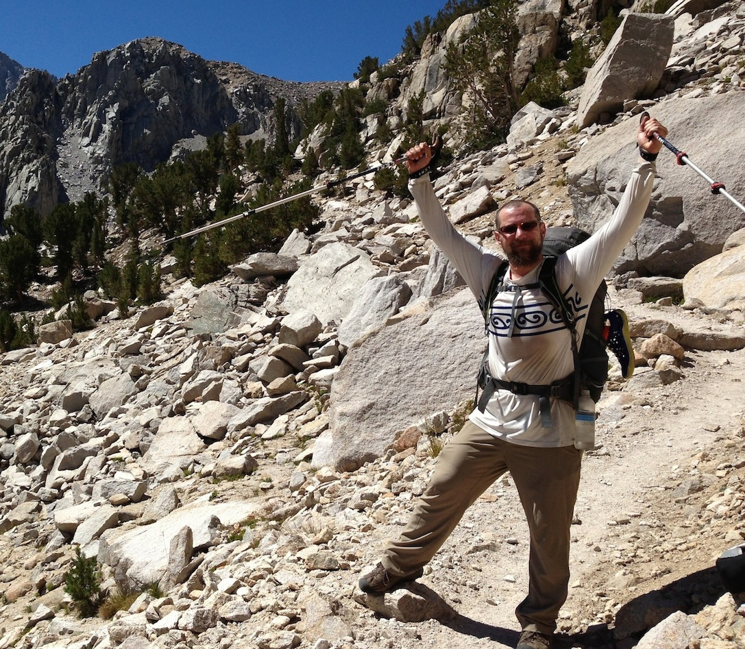 John from Richmond is enjoying life on the trail.